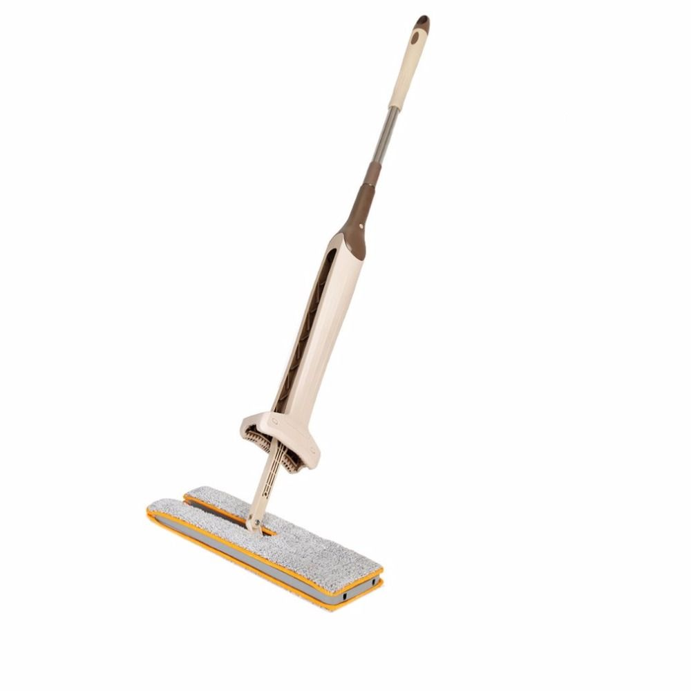 PREUP Self-Wringing Double Sided Flat Mop Telescopic Comfortable Handle Mop Floor Cleaning Tool For Living Room Free Shipping
