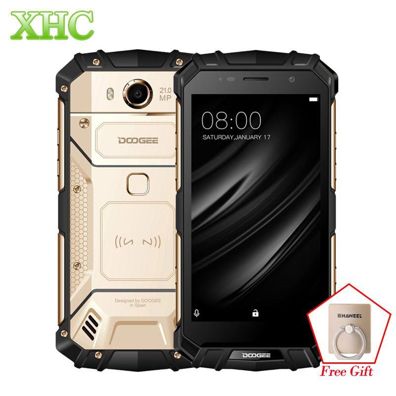 DOOGEE S60 IP68 Smartphone 5580mAh Wireless Charge Helio P25 Octa Core 5.2'' FHD 21MP RAM 6GB ROM 64GB Dual SIM NFC Cellphone