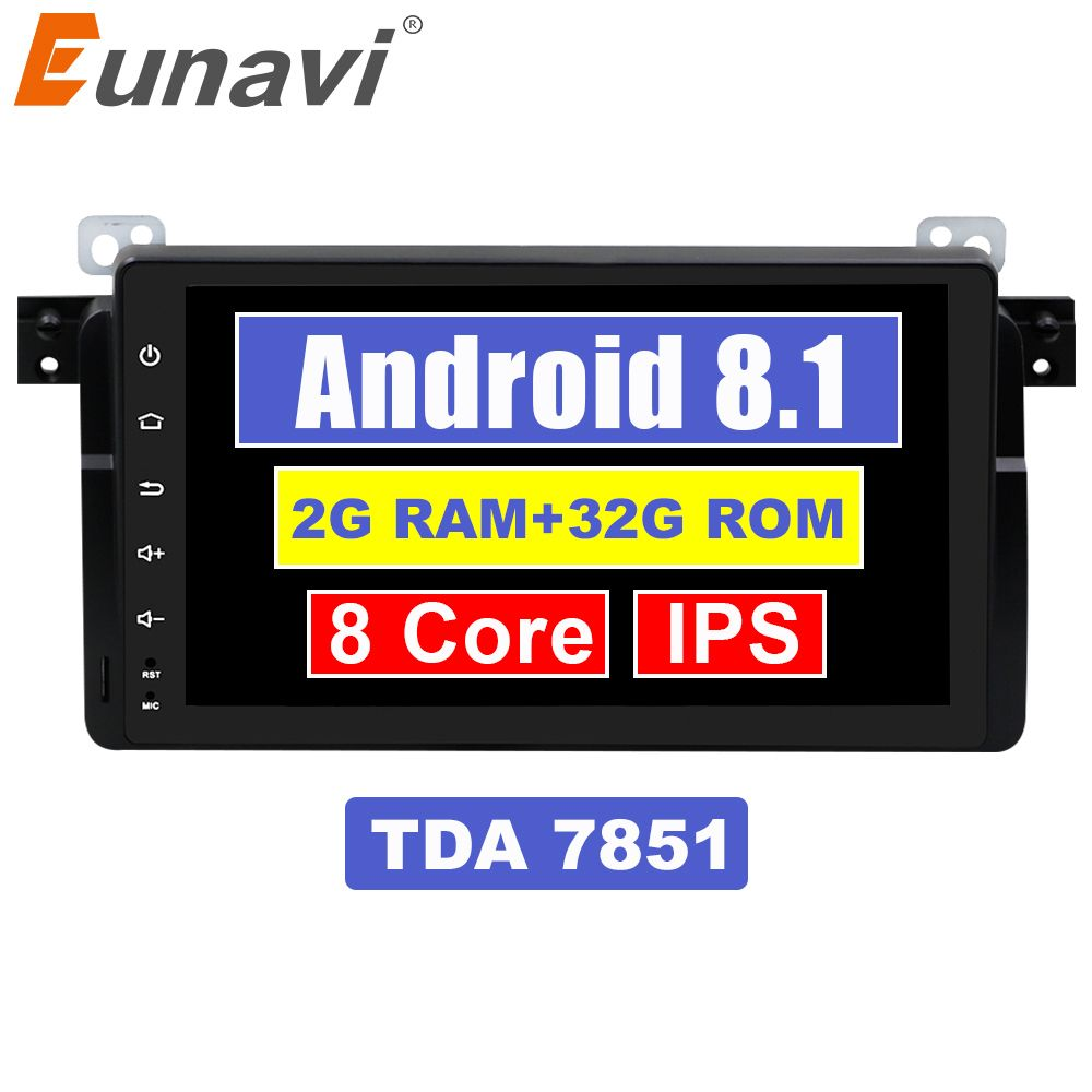 Eunavi 1 Din Android 7.1 8,1 9 Inch Quad Core Auto Radio Stereo Gps Für Bmw E46 M3 Rover 75 Mit wifi 4g Canbus Bluetooth 2 gb Ram