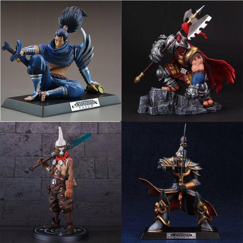 LOL League of Legends figur Action-Spiel Jax Yasuo Modell Sammlung Spielzeug action-figur 3D Spiel Hero anime party dekoration Geschenk
