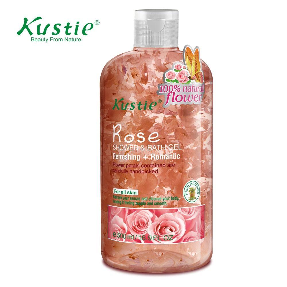 Kustie Body Care Body Wash Nature Floral Petals Rose Shower & Bath Gel 220ml