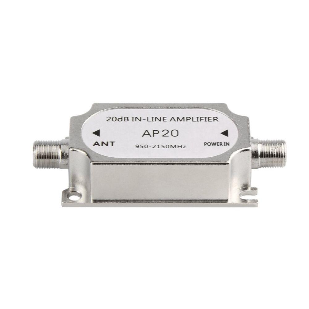 Satelliten Schalter 20dB In-line Verstärker Booster 950-2150 MHZ Signal Booster Für Dish Network Antennenkabel Laufen kanal Festigkeit