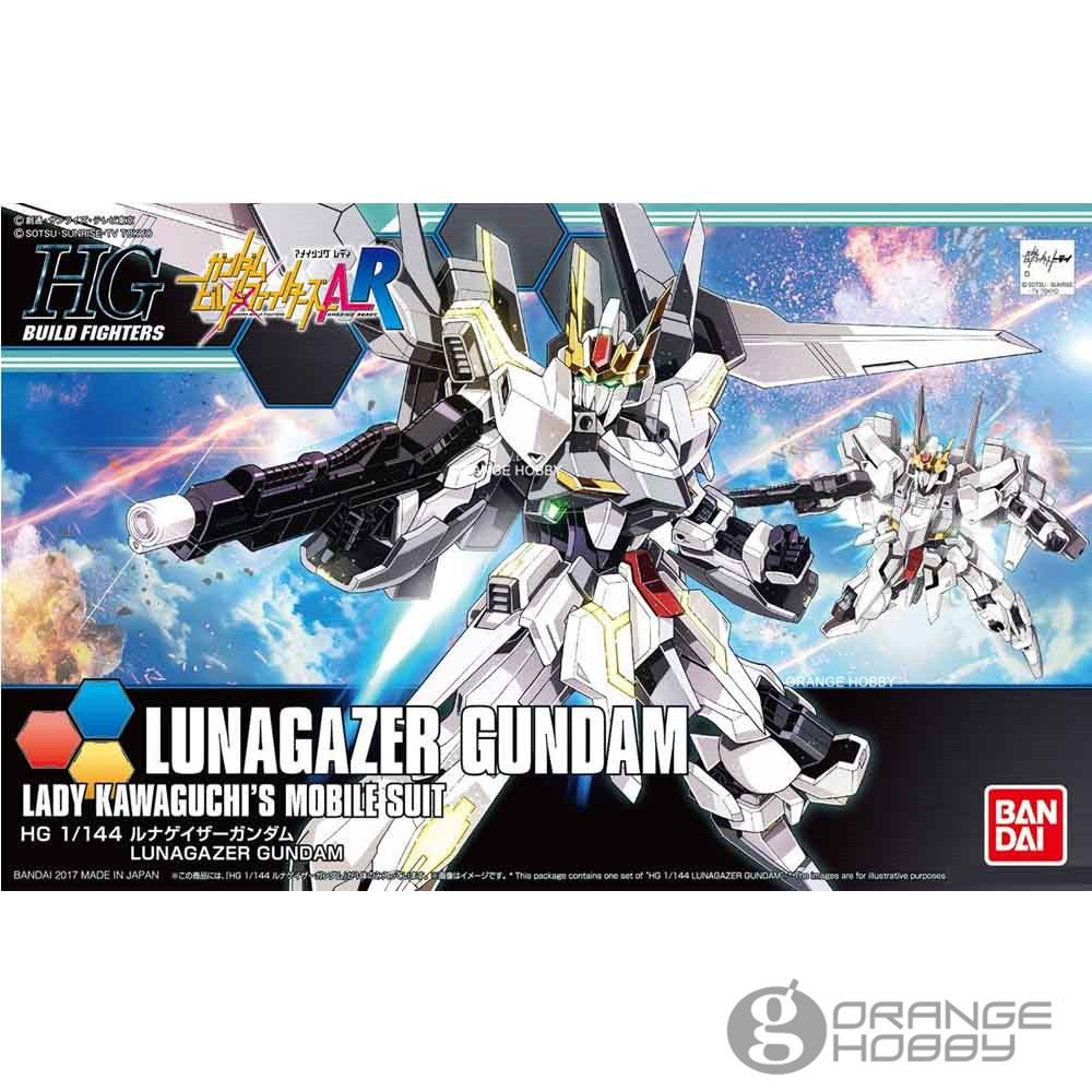 OHS Bandai HG Build Fighters 051 1/144 Lunagazer Gundam Laday Kawaguchis Mobile Suit Assembly Model Kits