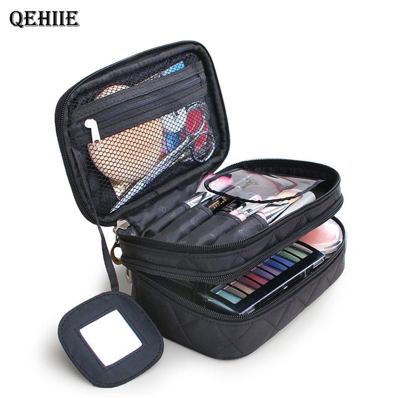 Marque organisateur cosmétique sac double Maquillage waterproof sac voyage organisateur esthéticienne cas multi-fonction de stockage sac QE128