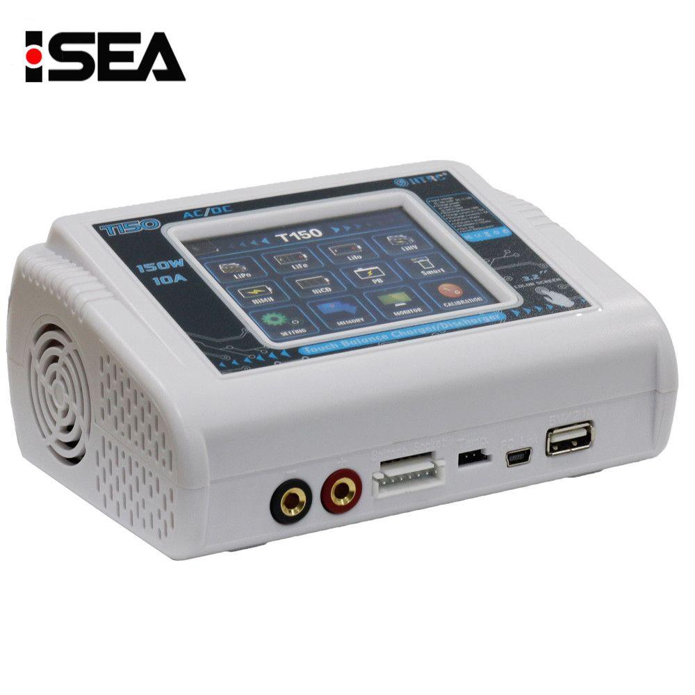 Nouveau HTRC T150 AC/DC 150 W 10A Écran Tactile RC Équilibre Intelligent chargeur Déchargeur pour LiPo LiHV Vie Lilon NiCd NiMh Pb batterie