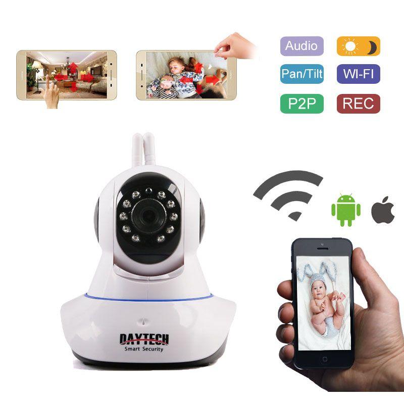 Daytech IP caméra sécurité à domicile WiFi caméra Wi-Fi moniteur réseau alarme de mouvement P2P Vision nocturne bidirectionnelle Audio DT-C101A 1080P
