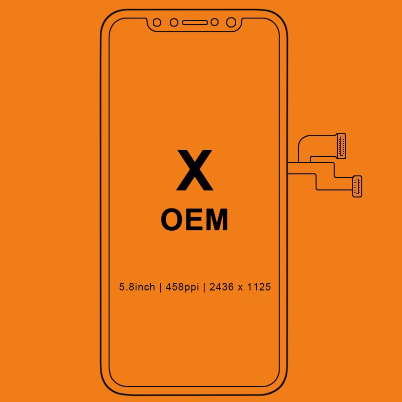 Grade New Black For Tianma AMOLED OEM quality For iPhone X LCD Display Touch Screen With Digitizer Replacement Assembly Parts