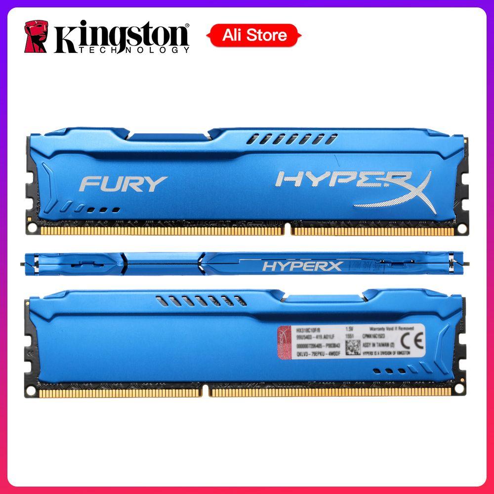 Kingston HyperX FURY Ram DDR3 4GB 8GB 1866MHz Memory DIMM RAM 1.5V 240-Pin SD RAM Intel Memory Ram For Desktop PC Gaming Laptop