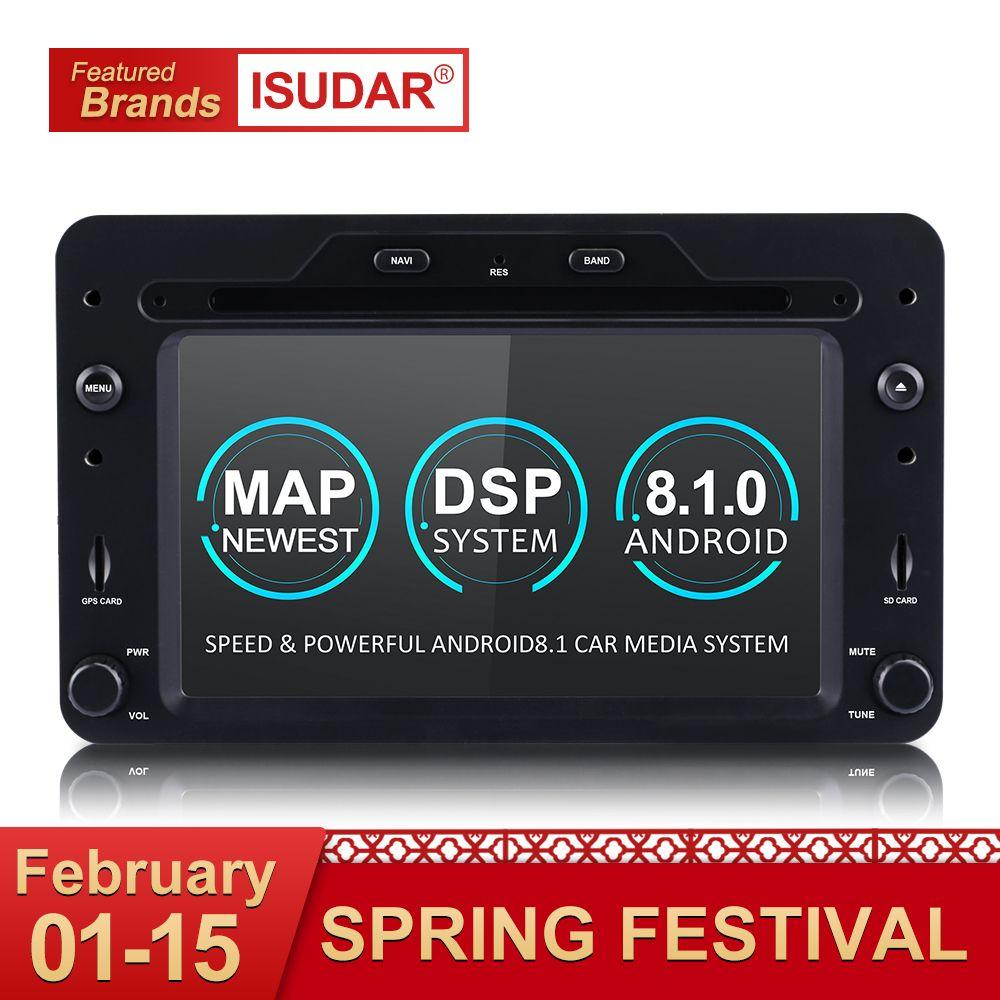 Isudar Auto Multimedia-player GPS Android 8.1 Auto 1 Din DVD Automotivo Für Alfa/Romeo/Spider/Brera/ 159 Sportwagon Radio Quad Core