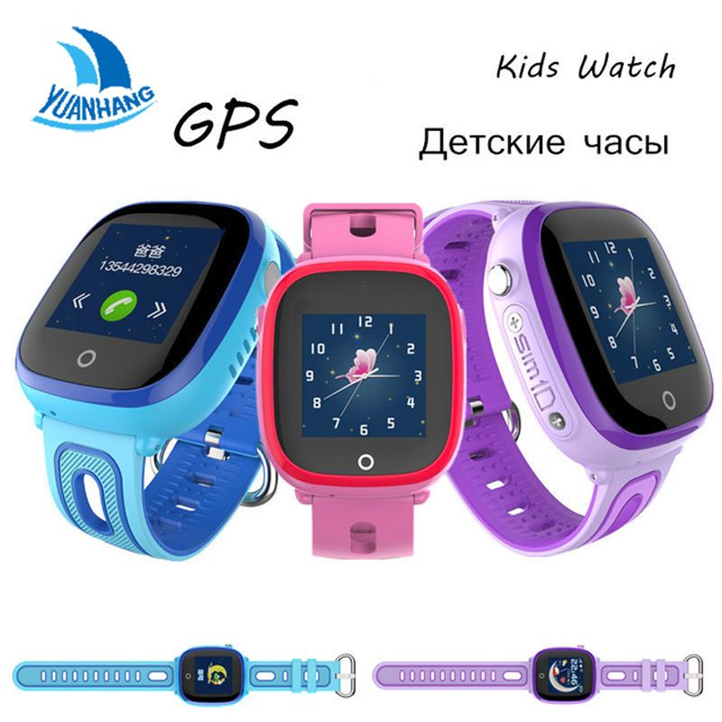 2018 New IP67 Waterproof Smart Safe GPS LBS Location Touch Screen SOS Call Monitor Wristwatch <font><b>Finder</b></font> Tracker Watch for Kid Child