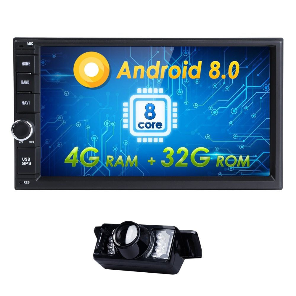 2Din car stereo GPS navigation for Nissan Universal 7inch1024*600 HD screen 8OctaCore car radio head unit WIFI android8.0 4G+32G