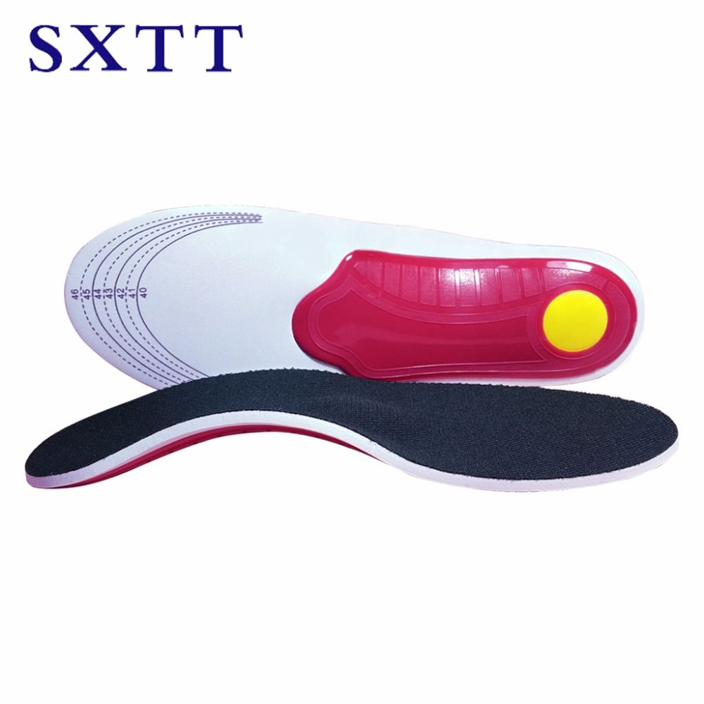 SXTT NEW High quality Leather orthotics Insole for Flat Foot Arch Support 30mm orthopedic Silicone Insoles for men and women