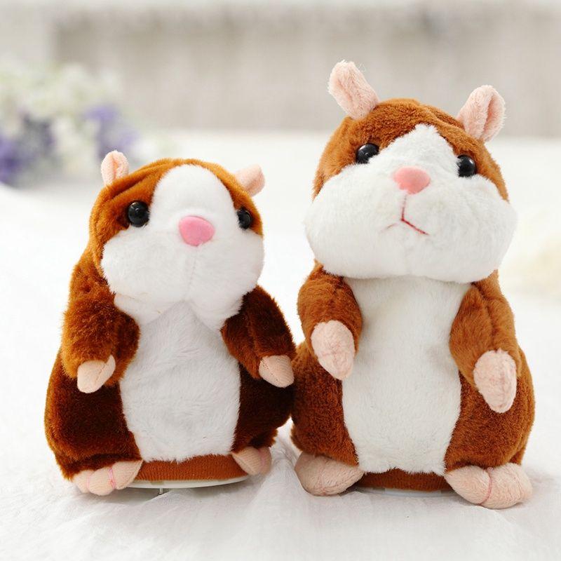 Parler chaud Hamster Électronique Animal En Peluche Jouet Mignon Sound Record Hamster Jouet Éducatif pour Enfants Cadeau D'anniversaire pour Garçon et fille