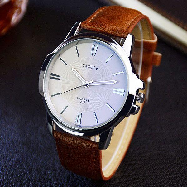 Yazole 2018 Мода кварцевые часы Для мужчин Часы Топ бренд роскошных мужских часов Бизнес Для мужчин S наручные часы hodinky Relogio Masculino