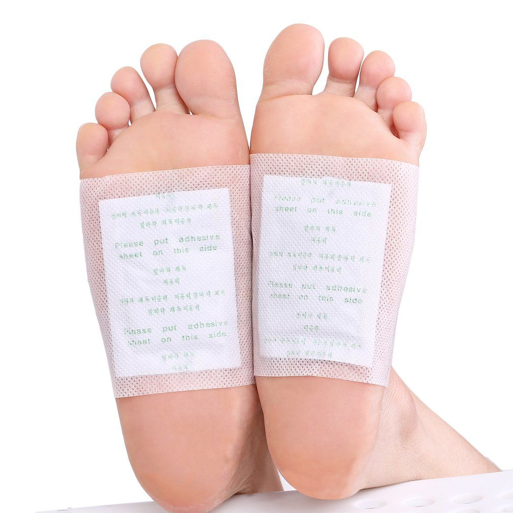 100 PCS Detox Foot Patches Pads Body Toxins Detox clean Combats Fatigue feet care Patches Feet Cleansing Herbal Adhesive Hot