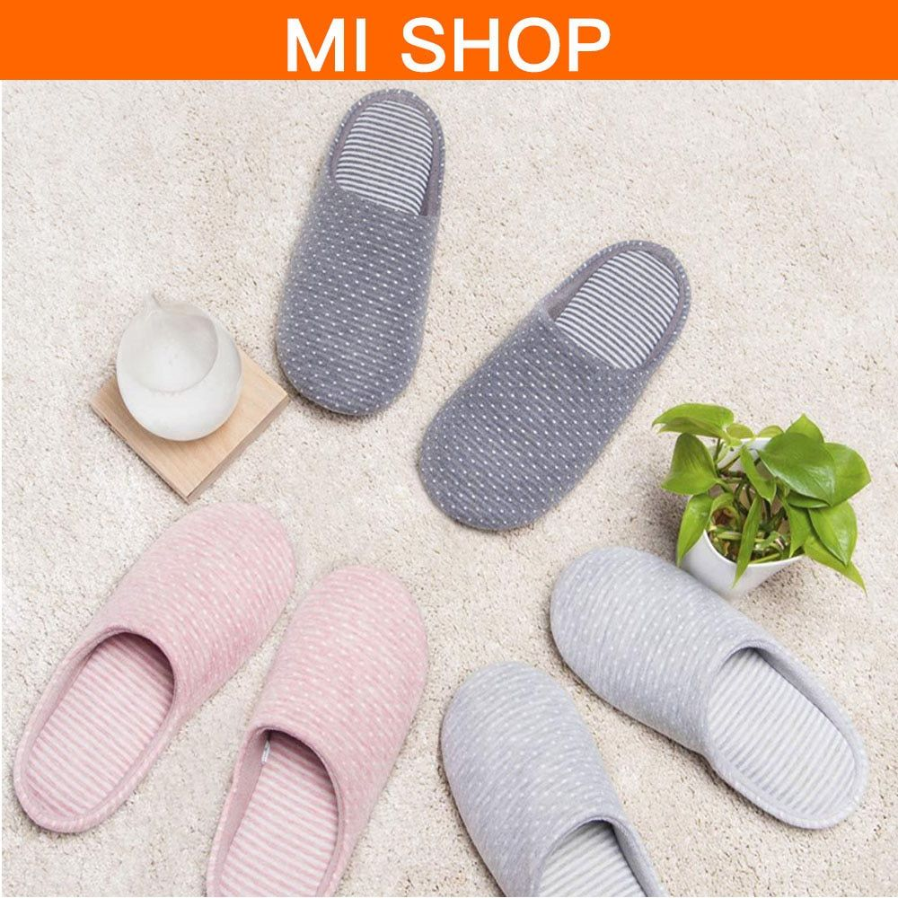 Original Xiaomi Home Cotton Slippers for Autumn and Winter Natural Antibacterial Odor-Resistant Anti-slid TPR Sole