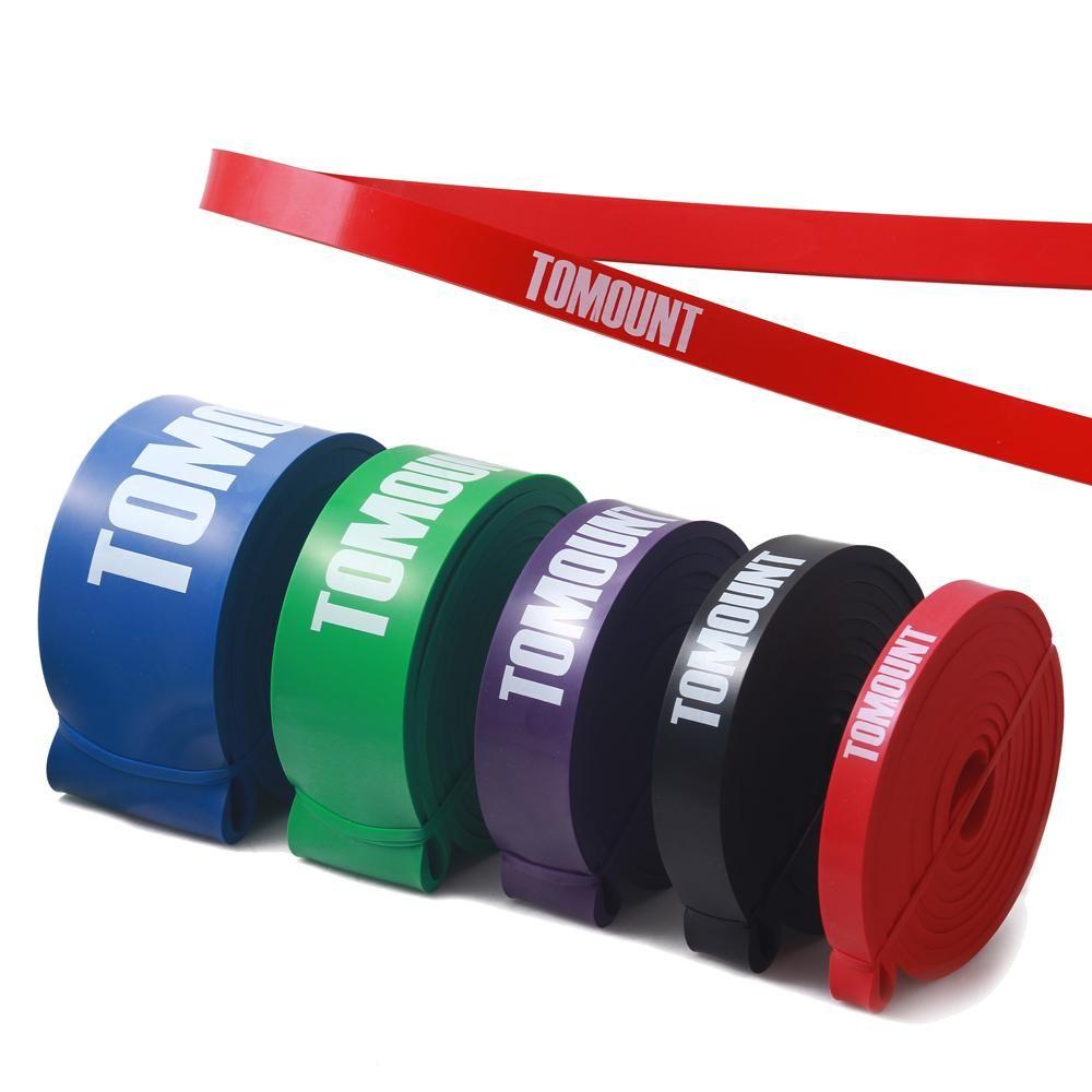 Widerstand Band Übung Crossfit Festigkeit Krafttraining Fitness Übung Red Naturlatex 208 cm Arm Bein Training Zubehör