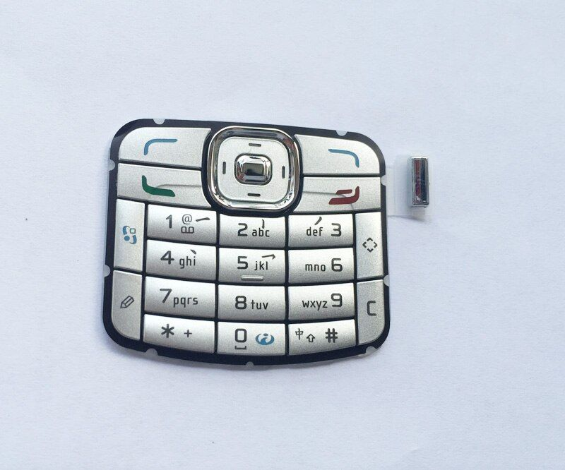 Silver/Black 100% New Ymitn Housing Buttons digital Keyboards Keypads Cover For Nokia N70 Free Shipping