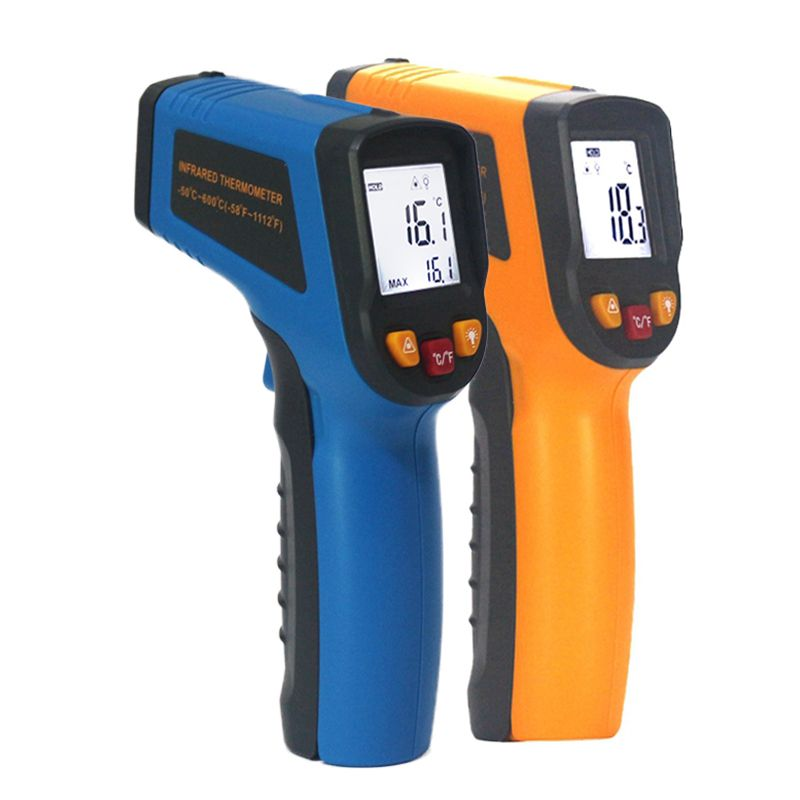 LCD Non-Contact Digital Laser IR Infrared Thermometer C/F Selection Surface Pyrometer Outdoor Temperature Meter