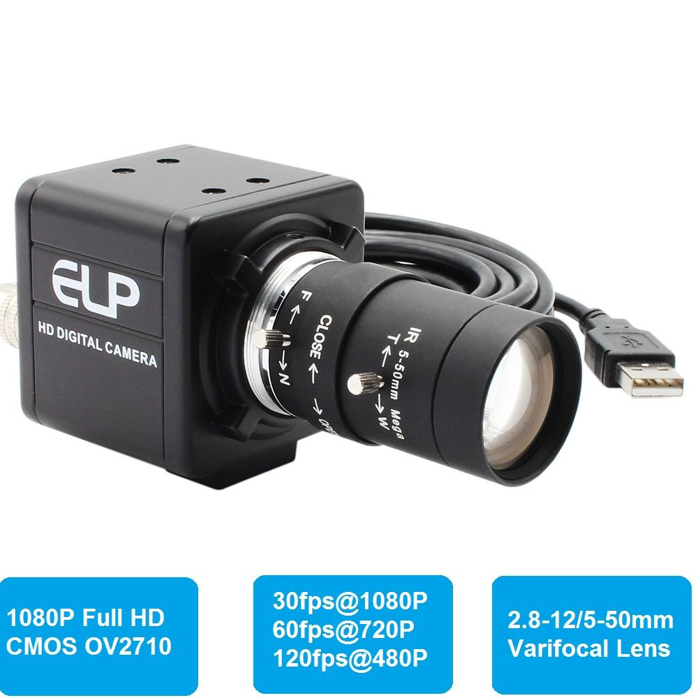 1080P Full HD 30fps 60fps 120fps mini PC Webcam USB Camera with Manual Varifocal Lens for PC Skype ,Video calling recording