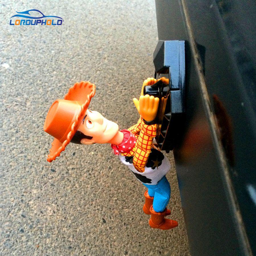 LORDUPHOLD Drôle Belle Toy Story Sherif Woody Voiture Poupée En Dehors Accrocher Jouet Mignon Muneca Auto Accessoires 20 cm 30 cm 40 cm Vente Chaude