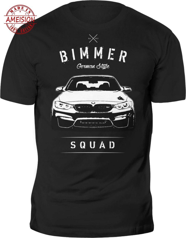 100 % Cotton T Shirt For Men Germany Classic Legend Car M4 F32 F36 M Power Bimmer German Style Est. T-shirt 100% Cotton T Shirt