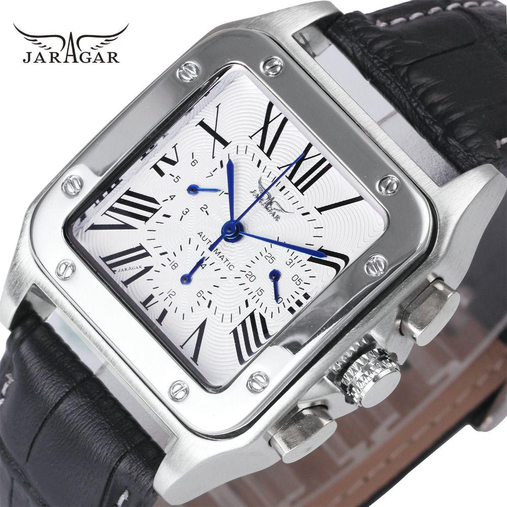 JARAGAR Top Brand Luxury Watches for Men Women Unisex Automatic Mechanical 3 Working Sub-dials Fashion Dress Wrist Watches