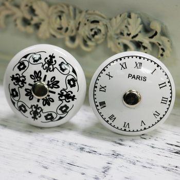 Une Pièce 38mm Français Paris horloge Design cabinet bouton poignées de porte meubles Dresser poignée de tiroir