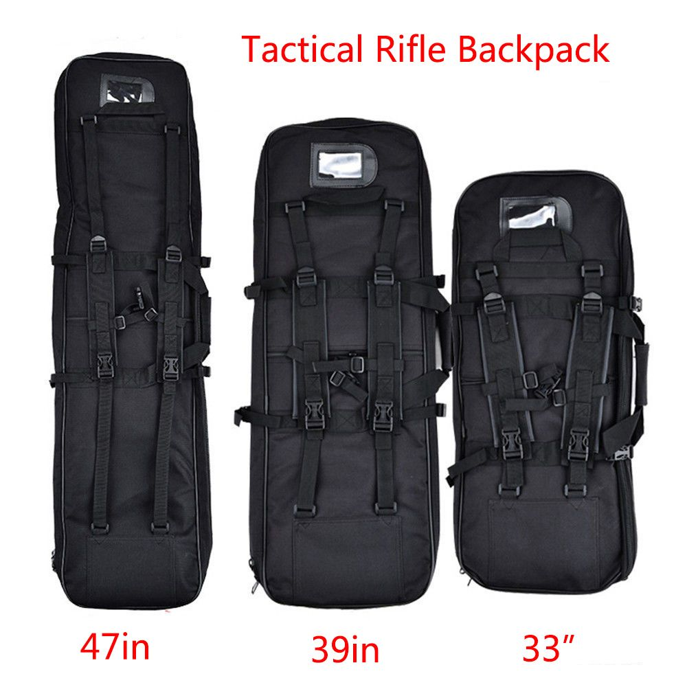 85cm/100cm/120cm Military Shotgun Molle Backpack Airsoft Square Bag  Rifle Shoulder Backpack Hand Carry Gun Protection Case