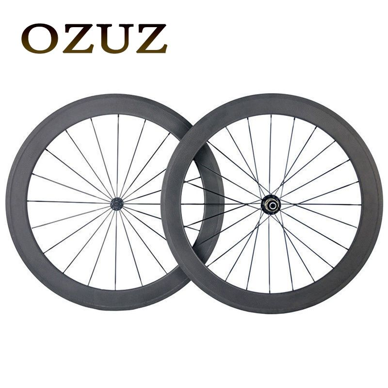 Factory Sales OZUZ Super Light 50mm Clincher Road Racing Bicycle Wheels Powerway R13 Hub Carbon Fiber Single 700C Wheelset