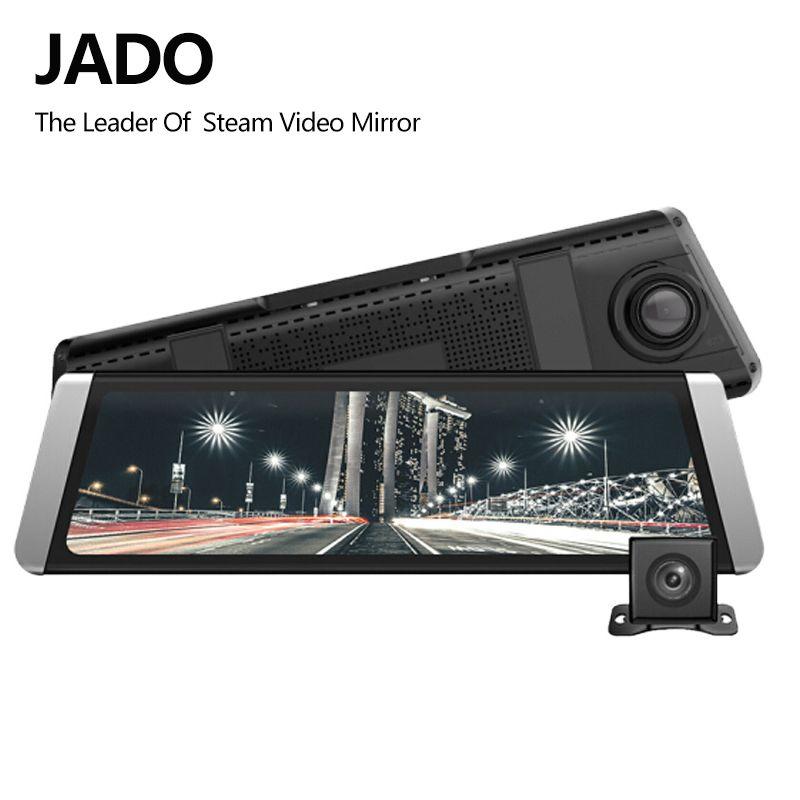 JADO D800 Car Dvr Stream Rearview Mirror Camera LDWS GPS Track 10 IPS Touch Screen Full HD 1080P Car Dvrs Recorder Dash cam