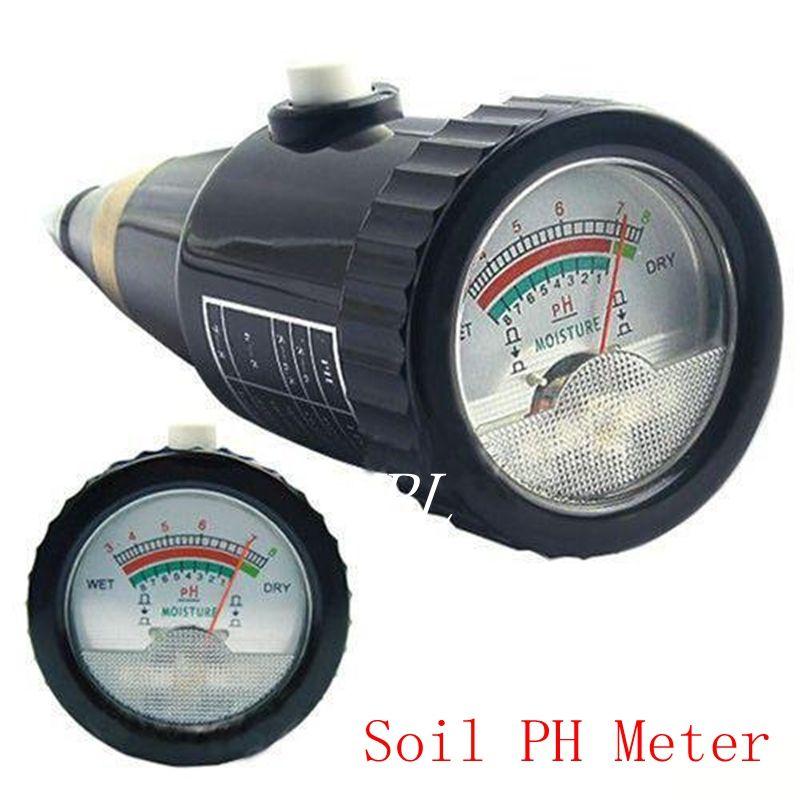 Portable Plant Soil PH Level Moisture pH Meter 1-8% pH 3-8 Soil Plant Flower Crop Hydroponics Agriculture pH&Moisture Analyzer