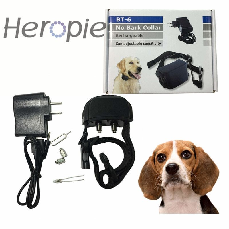 Heropie Newest Dog trainer Shock Vibra Rechargeable And Waterproof Electric Pet Dog <font><b>Training</b></font> Collar
