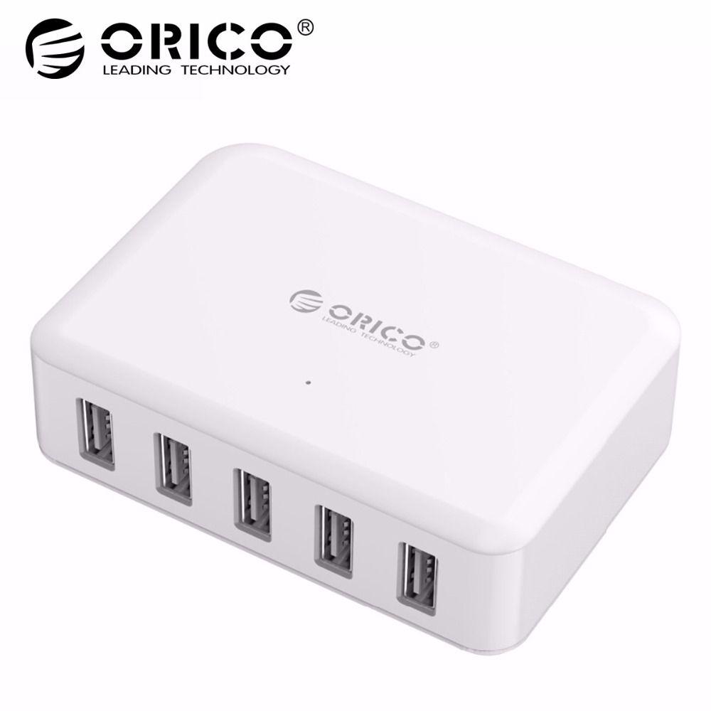 ORICO 5 Ports USB Chargeur ABS 5 v 8A 40 w PhoneTablet Adaptateur pour iPhone x 5 6 7 Galaxy s7 Xiao mi mi Huawei 5 HTC 10 Téléphone Chargeur
