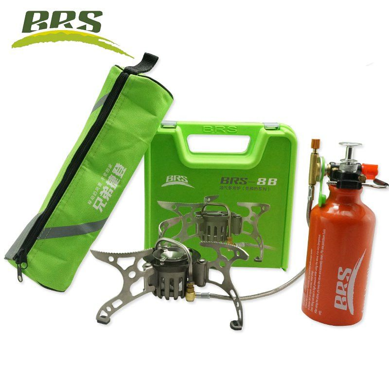 BRS-8B Outdoor Mountain Camping Stove Split-Type Oil 530ml oil Bottle Gas Multi-Fuels Non-Preheating Stove