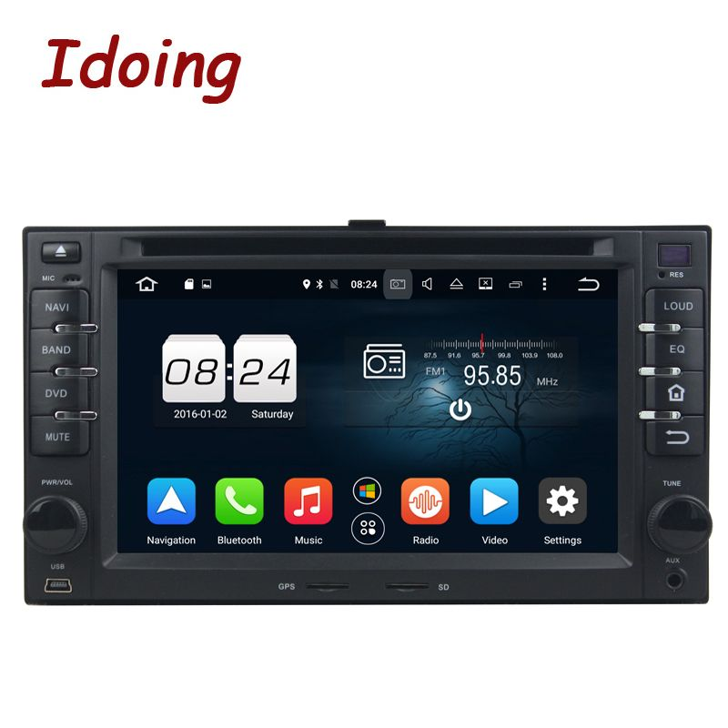 Idoing 4G+32G Steering-Wheel 2 Din Android 8.0 For Kia ceed Universal Car DVD Multimedia Player Navigation Fast Boot TV HDP