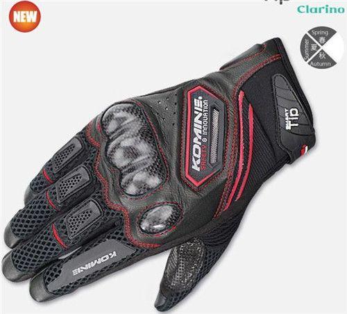 2017 summer breathable motorcycle gloves men's leather gloves motocross motorbike moto glove road racing gloves