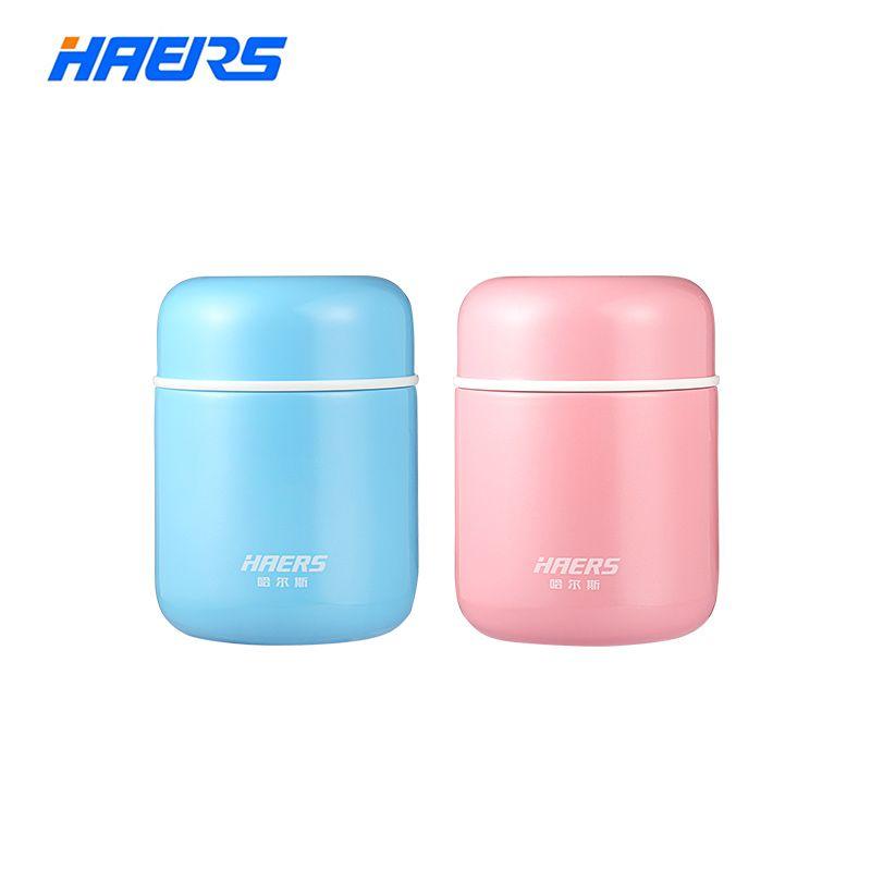 Haers Bonbons Couleur Alimentaire Soupe Thermos BPA-livraison acier inoxydable Thermos d'aspirateur boîte à déjeuner pour Enfants 280 ml 400 ml