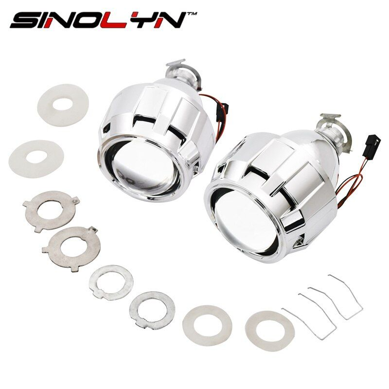 SINOLYN Car Styling Mini 2.5 pulgadas WST HID Bi xenon Lente Del Proyector H7 H4 Faros Retrofit DIY Lentes, utilizar Bombillas H1