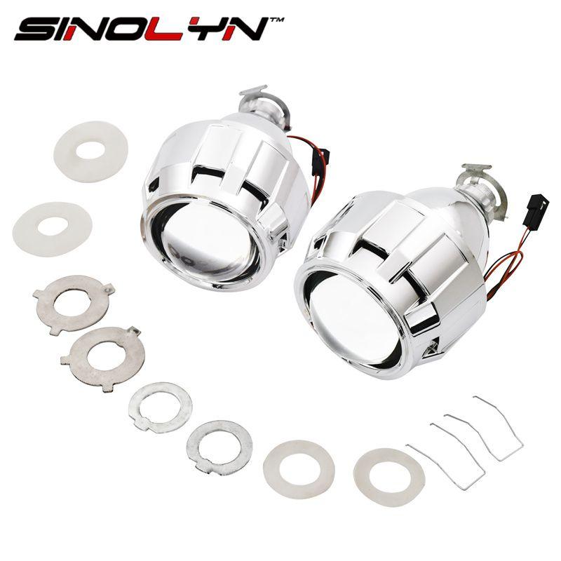 SINOLYN Voiture Style Mini 2.5 pouces WST HID Bi xénon Projecteur Objectif Rénovation BRICOLAGE H7 H4 Projecteur Lentilles, utilisation H1 Ampoules