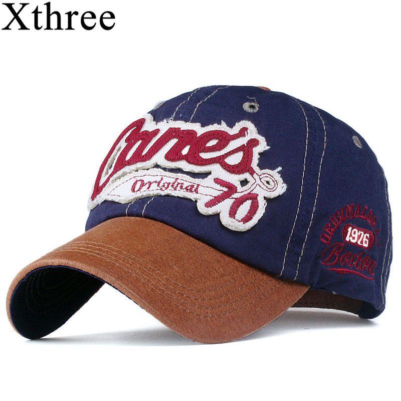 Xthree fashion snapback hat baseball cap cotton casquette bone gorras hat for men women cap hat letter cap