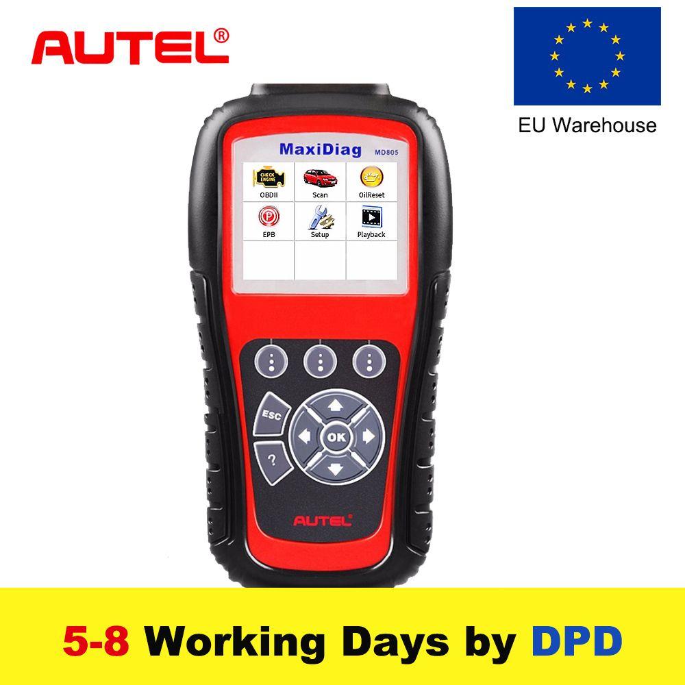 New Autel MaxiDiag MD805 Full System OBD2 Scanner OBDII Diagnostic Tool Code Reader Scaner better than Autel MD802 Update Online