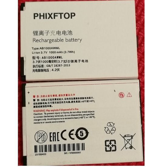 with track,PHIXFTOP AB1000AWML battery for Xenium K700 K600 X503 F322 F511 X223 X703 cellphone A20VDP/3ZP for philips Moblie