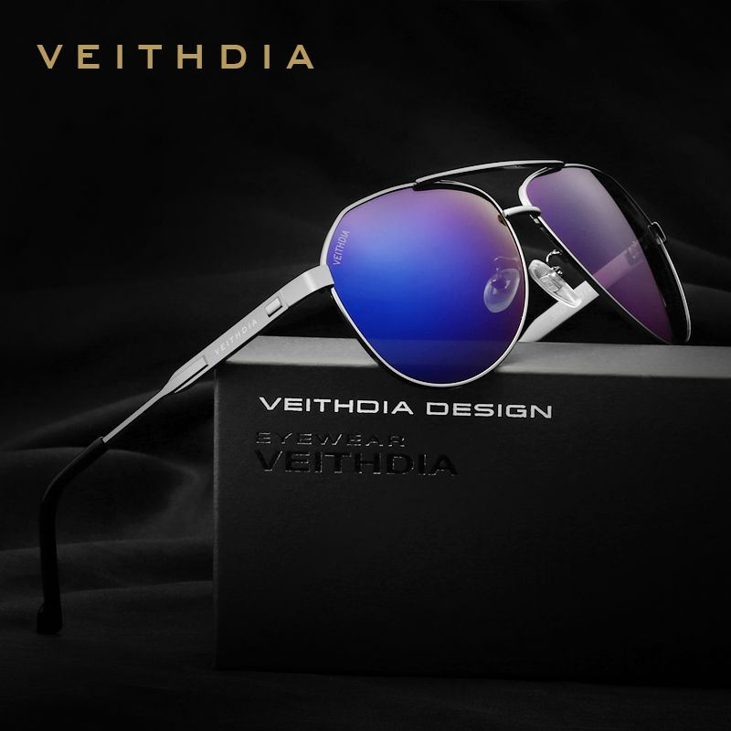 VEITHDIA Brand Designer Men's Sunglasses Polarized Mirror Lens Big Oversize Eyewear Accessories Sun Glasses For Men/Women 3562