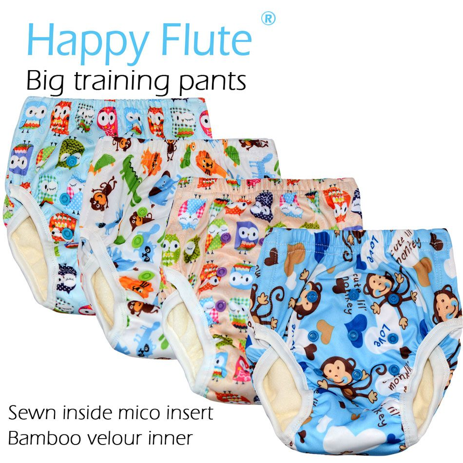 HappyFlute Big Training Pants for Toddler, PUL outer,bamboo terry inner ,for 2-5 years baby or fit waist 34-64cm