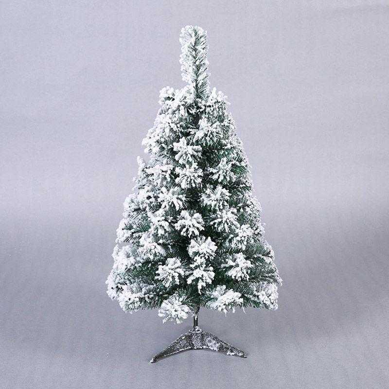 60cm Mini Artificial Christmas Tree Xmas Tree New Year Home Ornaments Desktop Decorations Flocking Snowflake Christmas Tree