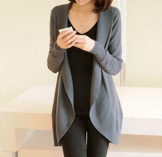 2016 осень новый женский с длинным рукавом вязаный свитер свободного покроя твердые шарф воротник кардиганы свитера