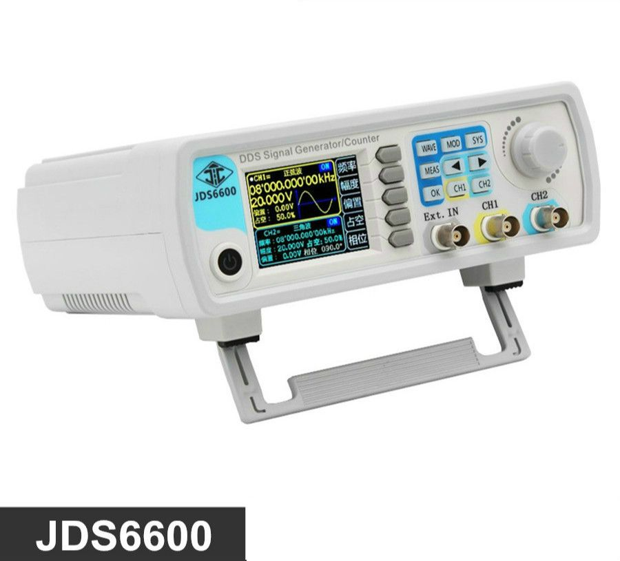 High precision digital dual channel DDS function signal generator arbitrary waveform pulse generator 1Hz-100MHz frequency