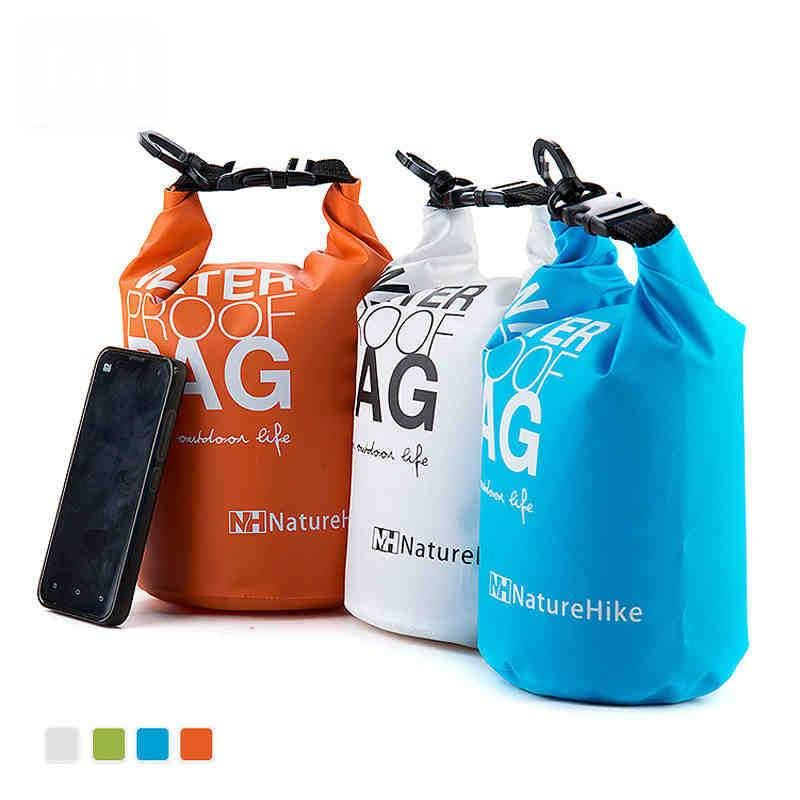 Outdoor Waterproof Mesh Cloth Swimming Bags Drying Drift Bag Good Sealing For Canoe Kayak Rafting Camping Beach Fishing 2L 5L