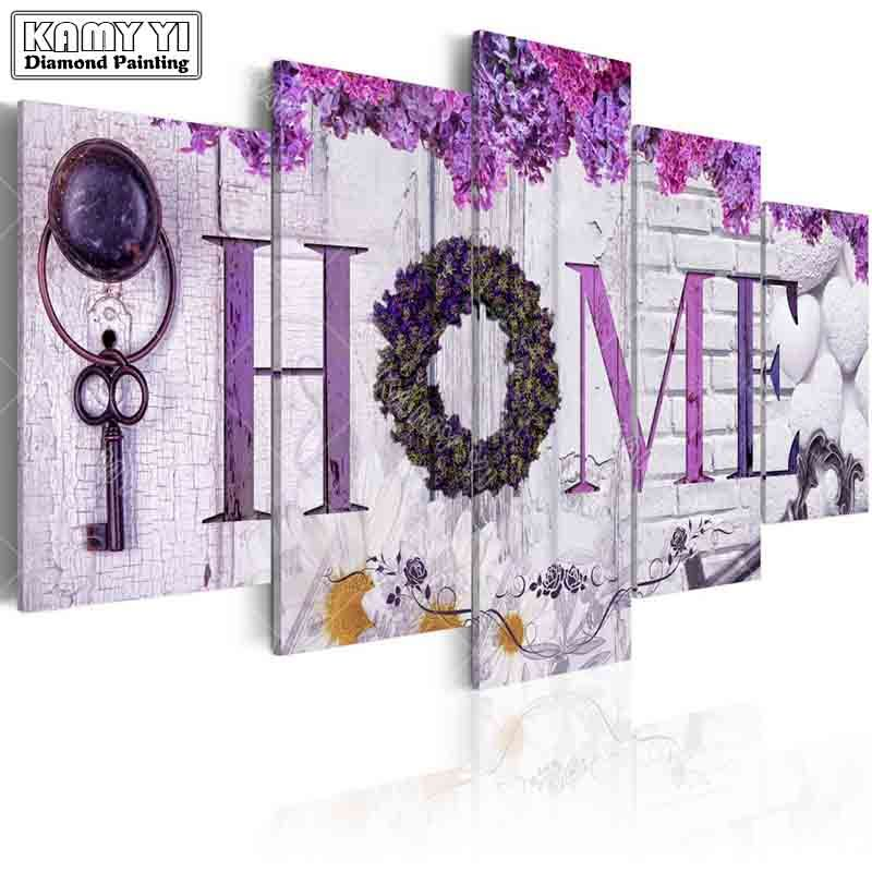 full square drill Diamond embroidery Flower decoration home 5D DIY diamond painting Cross Stitch Multi-picture home decoration